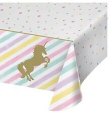 Unicorn Gold Sparkle Children Birthday Party Table Cover Table Cloth Tablecover