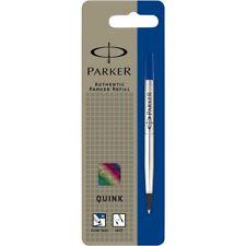 Parker Quink Recambio para bolígrafo roller, punta mediana, tinta azul