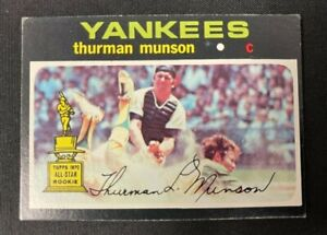 1971 TOPPS BASEBALL CARD THURMAN MUNSON #5 EXMT RANGE