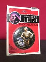 "Star Wars Vintage 1983 Return of The Jedi ROTJ 2.25"" Pinback C3PO & R2D2"