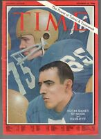 1966 Time Notre Dame American Football Jim Seymour And Terry Hanratty Only Cover