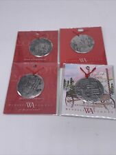 Lot Of 4 Wendell August Handmade Christmas Annual Ornament Aluminum Pewter