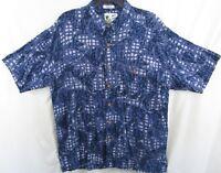 Men's Short Sleeve Button Down Hawaiian Shirt by M.E. Sport Size XL