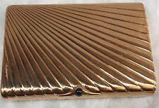 MAGNIFICENT ART DECO RUSSIAN 14K GOLD SAPPHIRE BOX SIGNED