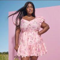 LoveShackFancy Target Pink Ccile Puff Sleeve Dress Size 18W