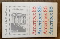 1986 United States Ameripex, Set of 4 Stamp Sheets, 35 Presidents