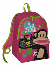 Paul Frank-Julius Monkey Ghetto Blaster Scuola Zaino-rosa