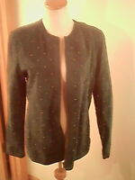 Linea by Louis Dell' Olio green leather suede jacket Fully Lined zipper studs M