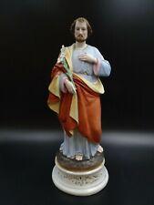 STATUE ANCIENNE DE SAINT JOSEPH EN PORCELAINE VERS 1880 SAINT PATRON DES FOYERS