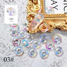 5pcs Angel Ring Rhinestones Chameleon Mermaid Aurora 3d Glitter Nail Art Decor 03#