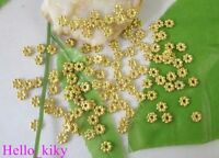 700 pcs Gold plated Daisy spacer beads 5mm M302