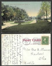 1912 Illinois Postcard - Peoria - Flower Beds in Bradley Park
