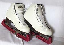 Riedell 121 White Figure Ice Skates