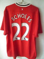 SCHOLES !!! 2011-12 Manchester United Home Shirt Jersey Trikot XL