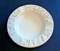 Vintage White Wedgwood Embossed Queens Ware Grapes & Vines Ashtray