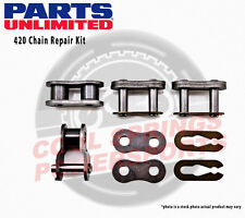 Parts Unlimited 420 Chain Repair Kit Chain Master Link Clips