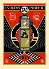 Art Alliance SHEPARD FAIREY ENDLESS POWER 24x36 in large OBEY GIANT Provocateurs