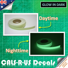 Luminous green glow in the dark sticker tape. Water resistant PROTECTIVE FILM 2m