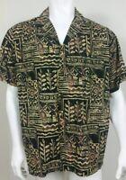 Hilo Hattie Mens Shirt Size XL Hawaiian Button Front Short Sleeve Abstract Art