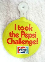 Tin Litho Pin Back Button PinbackI Took The Pepsi Challenge MINT Shape