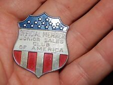 JUNIOR SALES CLUB OF AMERICA BADGE HALLMARKED