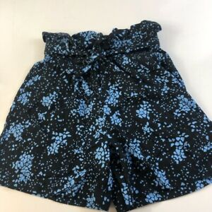 Who What Wear Womens Bermuda Walking Shorts Black Blue Starscape Floral 6 New