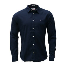 Tommy Hilfiger, Tommy Jeans Herren Hemd, Langarm, marineblau (navy blue)