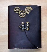 Custom Handmade Leather Journal Steampunk Style Diary Cover With Midori Passport
