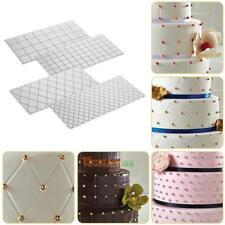 4pcs/Set Grid Transparent Texture Mat Fondant Mold Cake Border Decorating Tool