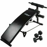 Banc de Musculation reglable incliné exercice Abdos haltère Fitness sport maison