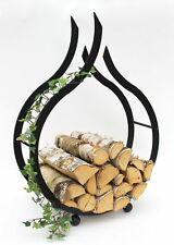 étagère en bois de cheminée flamme Support 78 cm Panier à pour
