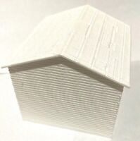 """O Scale Clapboard Siding Shed 10' by 10' (3"""" x 3"""" x 3"""") White Lot of 10"""