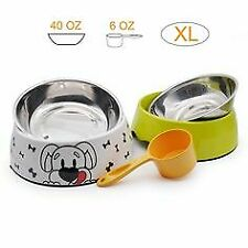 STAINLESS STEEL Non Skid Pet Dog Puppy Cat No Tip Bowl Dish 200 ML