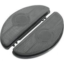 Half-moon floorboards w/ vibration inserts chrome - Drag specialties 17-0418L