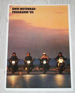 BMW German Motorcycle Motorrad Range Brochure 1989 K1 K75 K100 R100 R80 R65 GS