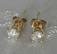 Splendidi orecchini con diamanti naturali oro giall 0,5ct diamond earrings 0.5ct