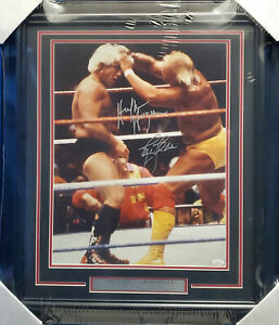 Hulk Hogan & Ric Flair Autographed Signed Framed 16x20 Photo JSA #WPP307521