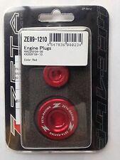 KAWASAKI   KXF250  KXF 250  KX250F  2004-2010  ZETA ENGINE PLUGS RED