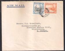 CYPRUS 1938 KGVI 1+6pi Total 7pi RATE AIRMAIL COVER NICOSIA 1951 TO GERMANY