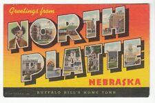 [56365] Old Large Letter Postcard Greetings From North Platte, Nebreska