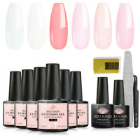 11Pcs MEET ACROSS 7ml Extension UV Gel Nail Polish Soak Off Building Top Coat US