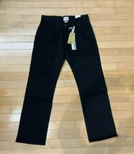 BLACK DENIM JEANS SLIM FIT ALL BLACK PANTS HALIFAX MENS SZ 30-34 #791