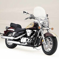 Memphis Shades Clear Windshield Kit Harley FLSTN Softail Deluxe 2005-2015