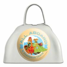 All Aboard the Dinosaur Train White Metal Cowbell Cow Bell Instrument