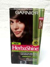 Garnier HerbaShine # 400 Dark Natural Brown Permanent Creme Hair Dye Color Read!