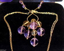 Cluster Amethyst Yellow Gold Fine Necklaces & Pendants