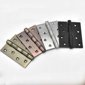 1Pair Stainless Steel Hinge Slotted Loose-Leaf Door Muffler Buffer Hinge 4-Inch