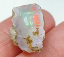 13.6Ct Natural Ethiopian Welo Opal Play Of Color Facet Rough Specimen YOW7574