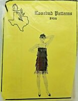 1920's Fringed Flapper Dress Costume Sewing Pattern 3105 Size 8-16