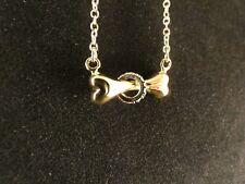 Anhänger 24 Karat Gold Hundeknochen Haustier Schmuck Strass Geschenk Halskette